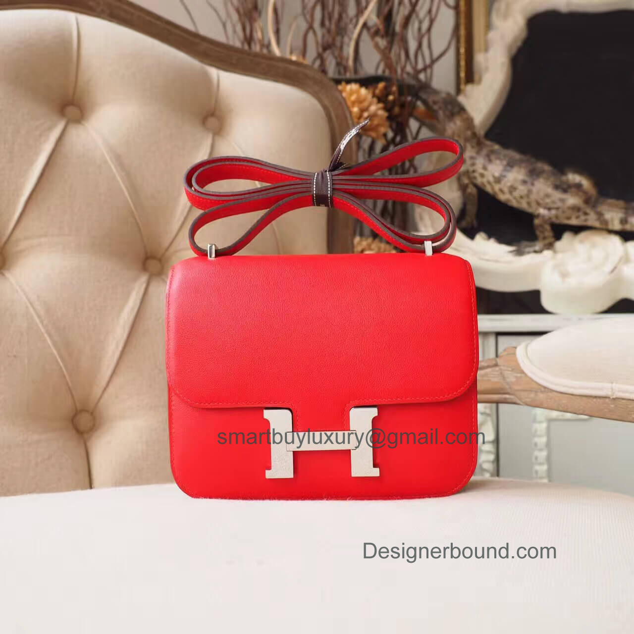 Hermes Mini Constance 18 in b5 Rouge Tomate Swift PHW