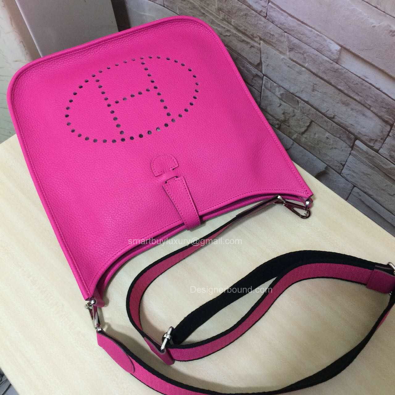 replica hermes wallets - Hermes Evelyne III Bag PM in Hot Pink Togo Leather -