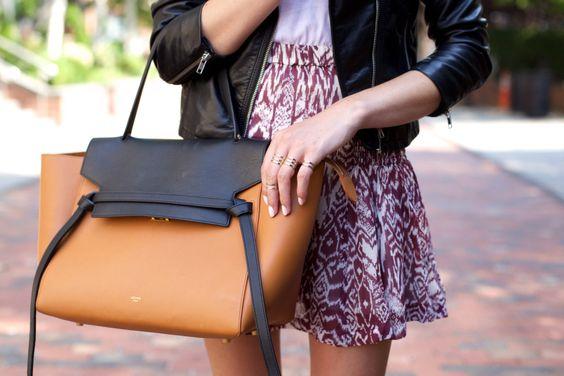 0a7091d40633 Bicolor white Celine belt bag bicolor black and brown Celine belt bag
