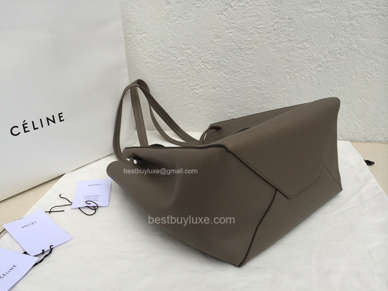 High Quality Celine Small Cabas Phantom in Grey Grainy Calfskin ...