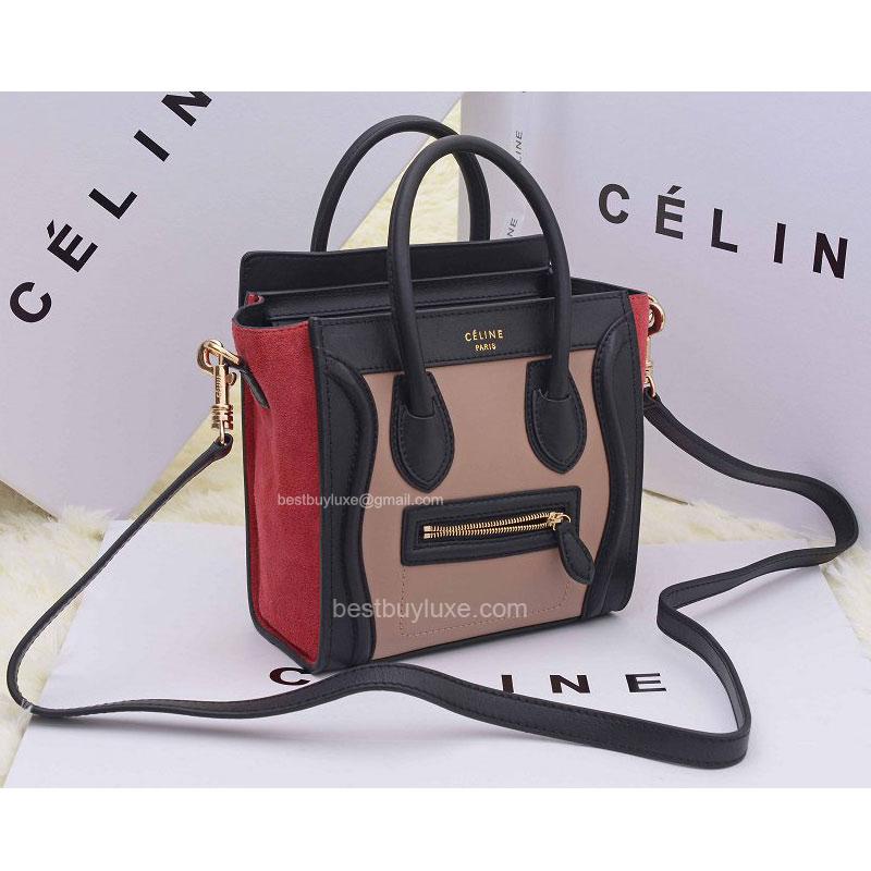 where can i buy celine bags online - Fake Celine Bag Luggage Nano Multi in Nude Calfskin - Replica Celine