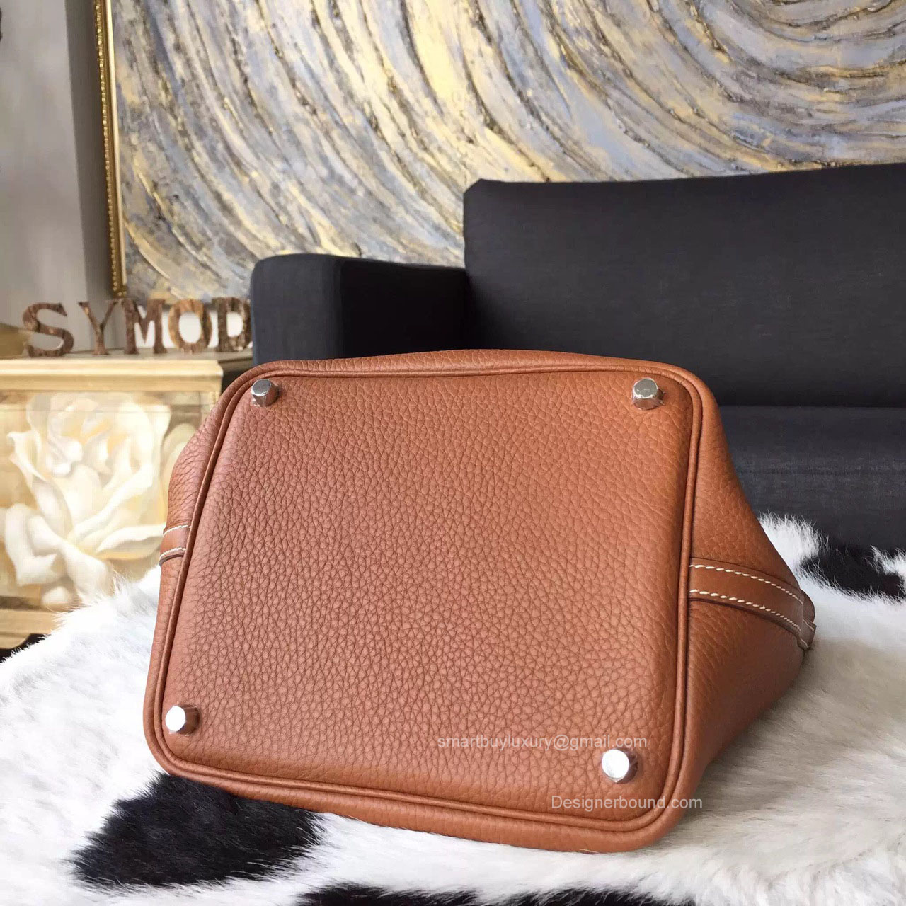 hermes Lindy medium taupe
