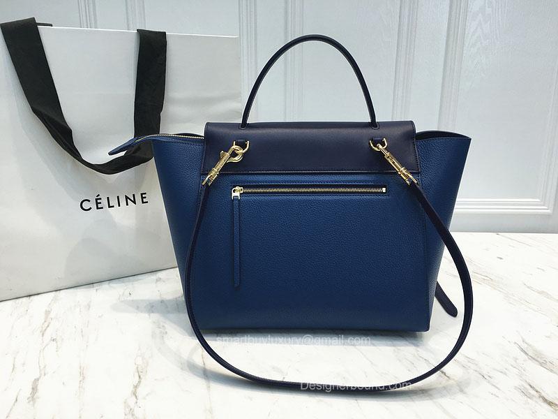 d23ddc33bdd7 Ultimate Replica Celine Small Belt Bag Multi in Sea Blue Goatskin -