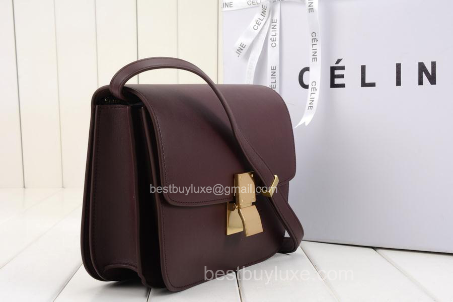 celine luggage bordeaux